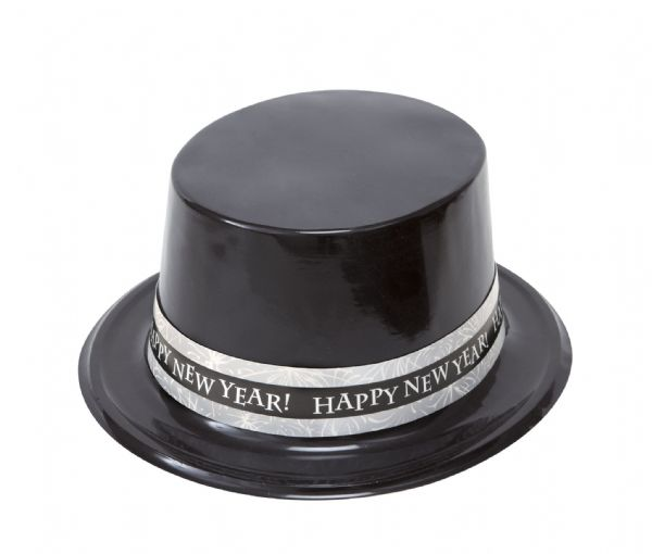New Years Sparkle Black Top Hat